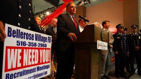Nassau County Executive Edward Mangano calls out for