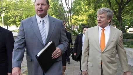 Former Major League Baseball pitcher Roger Clemens, and