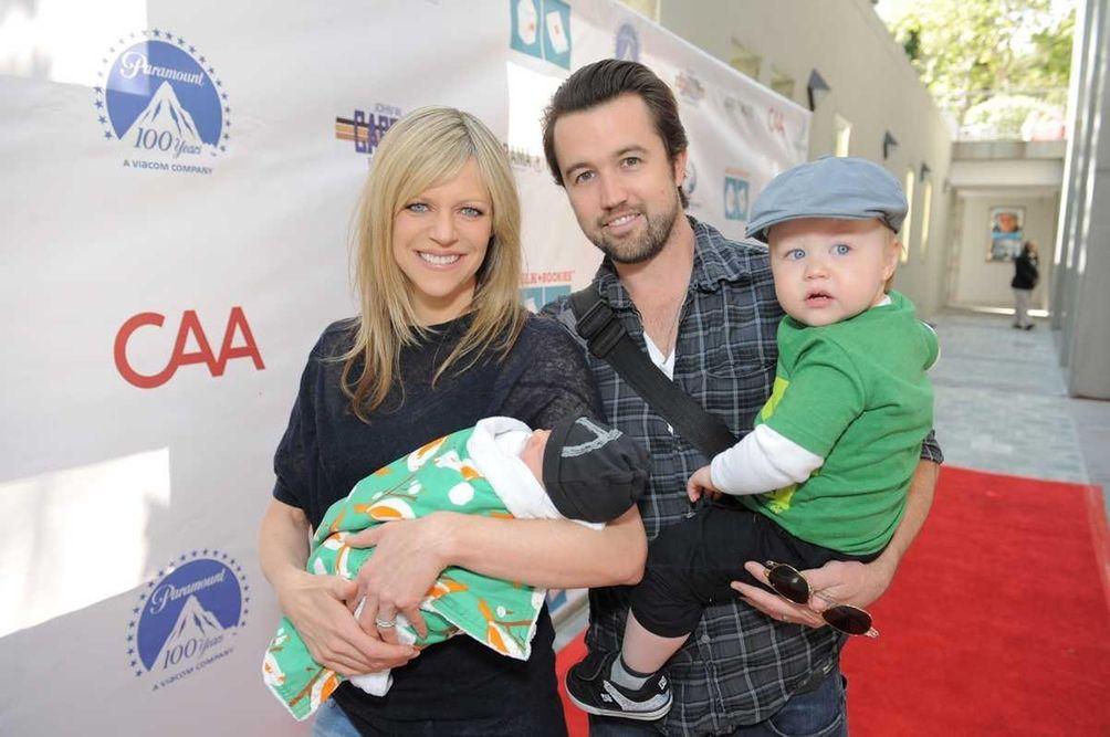 Parents: Kaitlin Olson and Rob McElhenney Children: Leo,