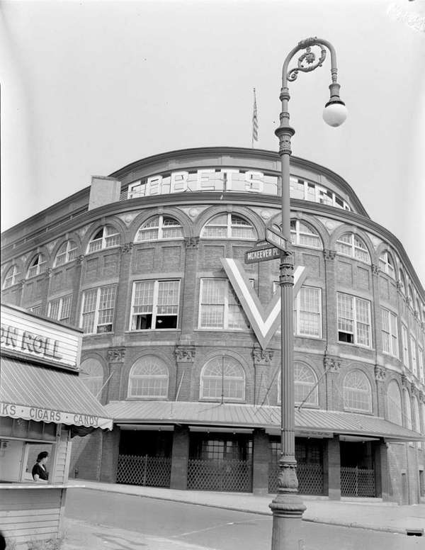 A 1950 photo of Ebbets Field by Harry