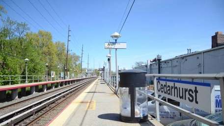 The Cedarhurst Long Island Rail Road station is