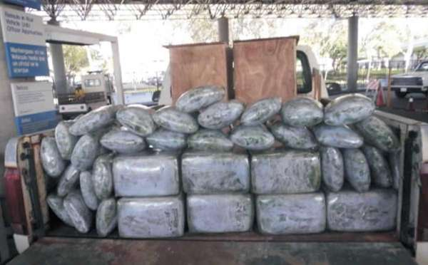 More than 110 kg of marijuana seized from
