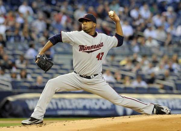 Minnesota Twins pitcher Francisco Liriano during the first