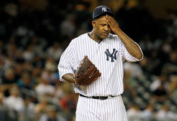 CC Sabathia #52 of the New York Yankees