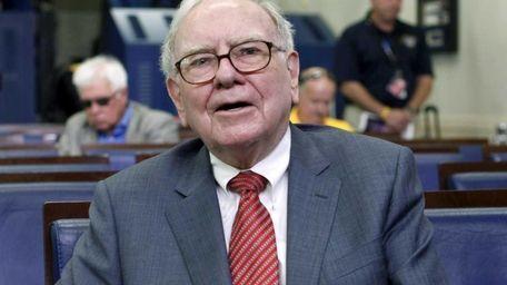 A file photo of Warren Buffett in the