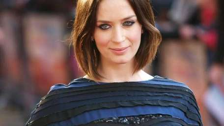 British actress Emily Blunt arrives for the European
