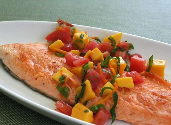 Sustainably caught Arctic char is pan seared and