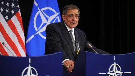 U.S. Defense Secretary Leon Panetta speaks during a