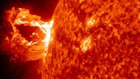 This image provided by NASA shows the sun