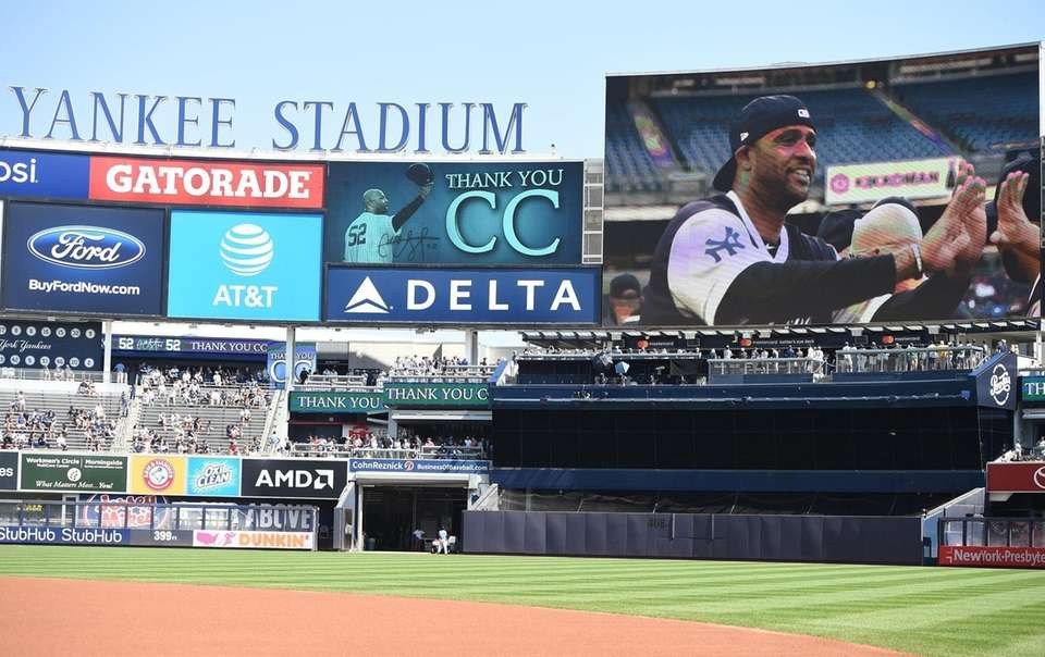 A tribute video for New York Yankees pitcher