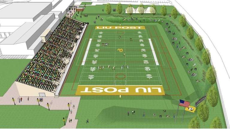 Rendering of proposed new football facility at LIU