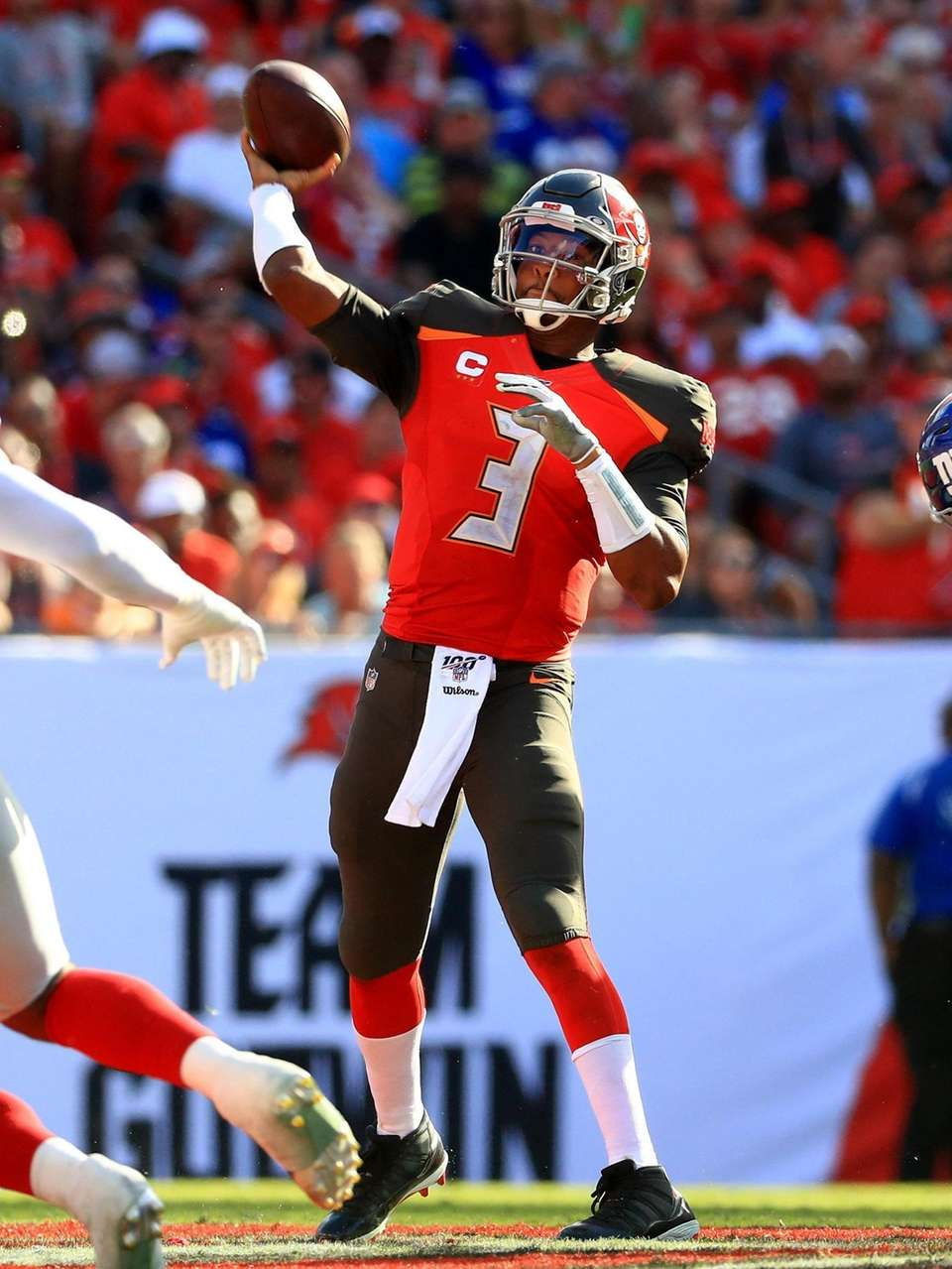 Jameis Winston of the Tampa Bay Buccaneers passes