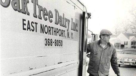 As the sun peeks over the treetops, milkman