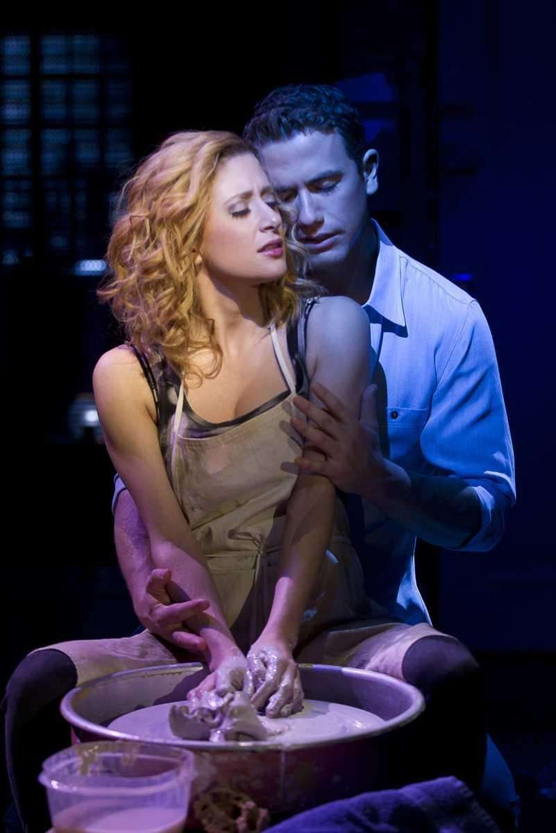 Caissie Levy and Richard Fleeshman in the Broadway