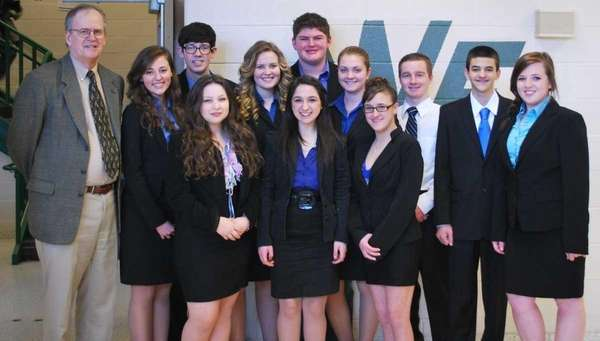 The William Floyd High School mock trial team