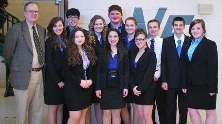 The William Floyd High School mock trial team