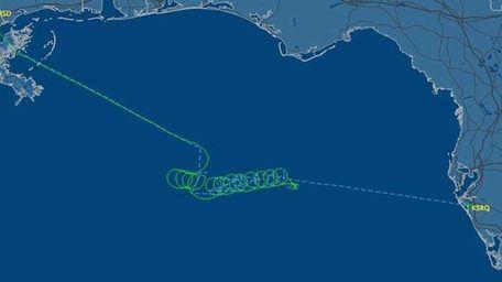This radar image released by FlightAware.com shows the