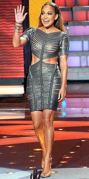 Jennifer Lopez is seen on