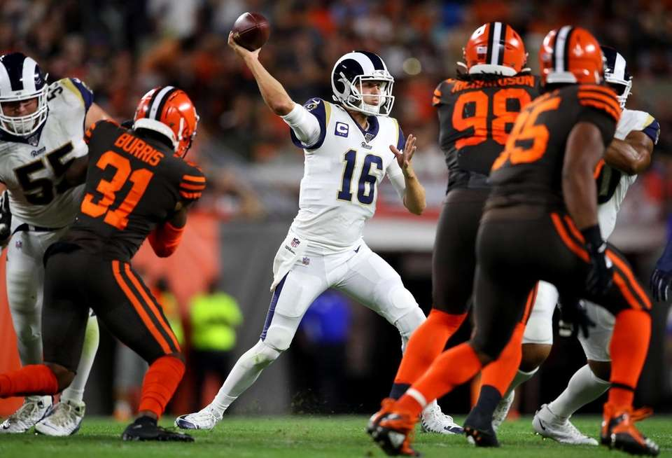 Quarterback Jared Goff of the Los Angeles Rams
