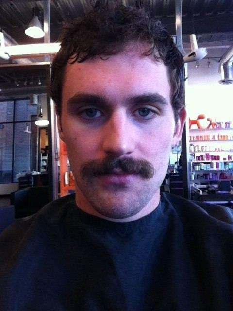 Kevin Love's new haircut and mustache.