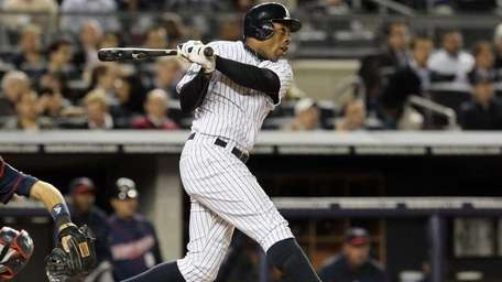 Curtis Granderson hits a fourth inning home run,