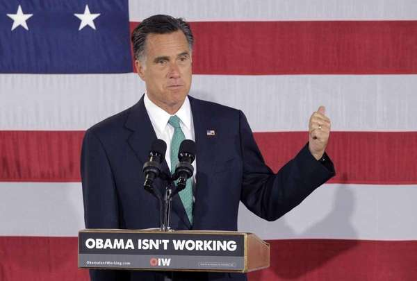 Republican presidential candidate Mitt Romney speaks at a