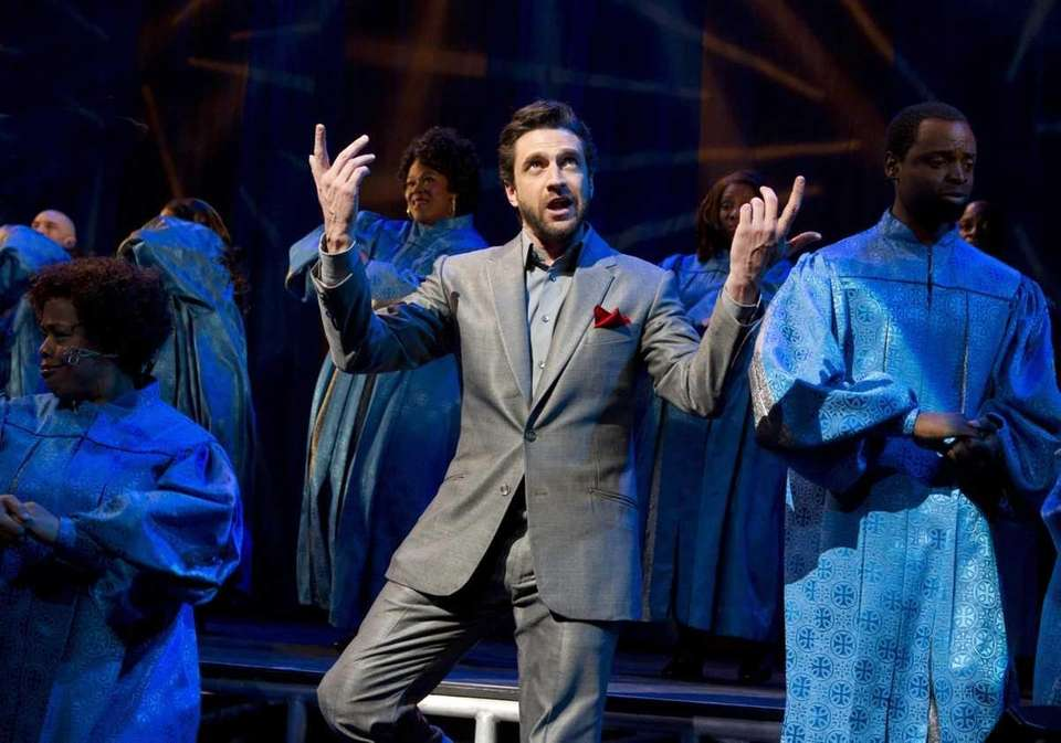 "Raul Esparza in ""Leap of Faith"" at the"