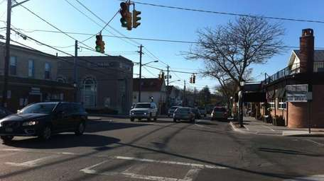 A view of Main Street in Center Moriches.
