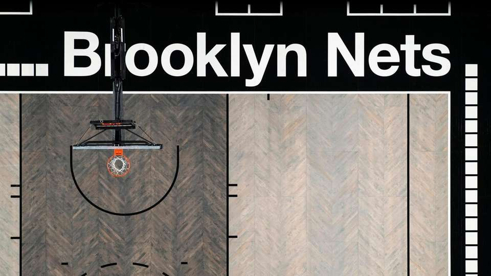 The Brooklyn Nets' new court design at Barclays