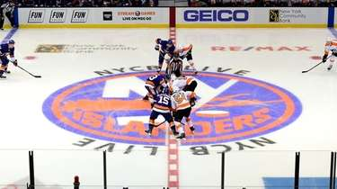 The Islanders against the Flyers at NYCB Live's