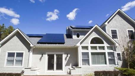 Solar panels on this