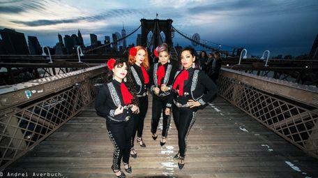 The female mariachi band Flor de Toloache will