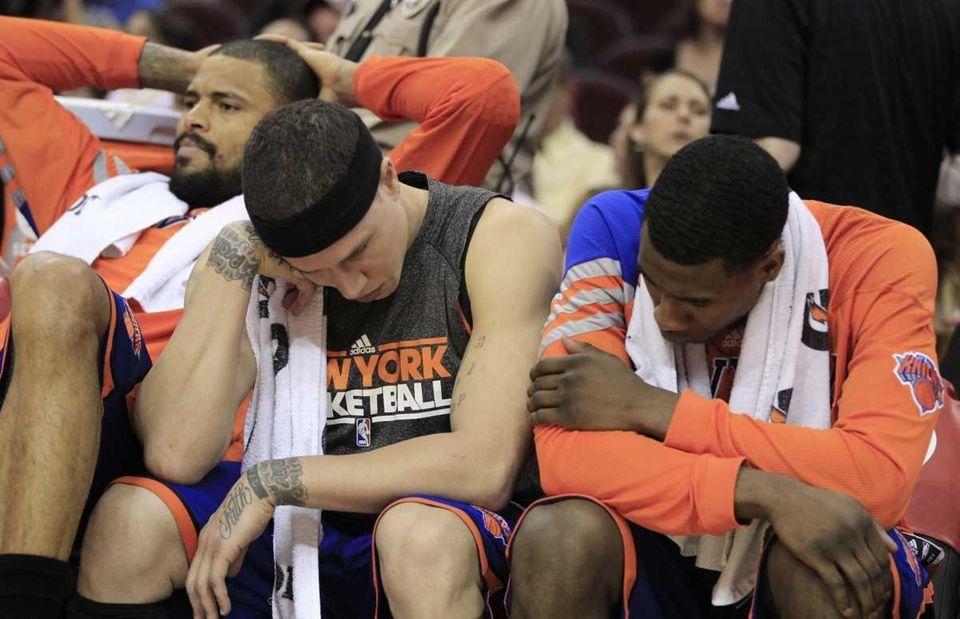 Knicks' Tyson Chandler, Mike Bibby and Iman Shumpert,