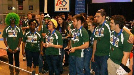 The robotics team from Longwood High School in