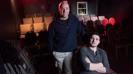 Robert Higgins, president of Eastline Theatre, and his