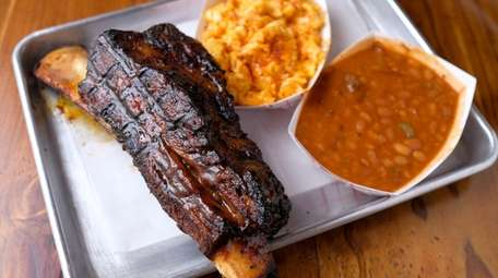 The dino beef rib at Bell's Kitchen &
