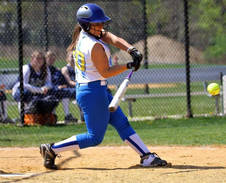 Kellenberg's Alexandra Pisciotta #20 connects for a hit