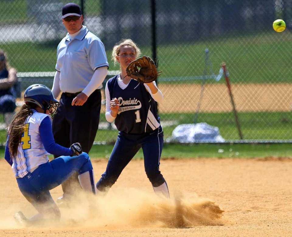 Kellenberg's Amanda Crimarco #14 slides safely into 2nd