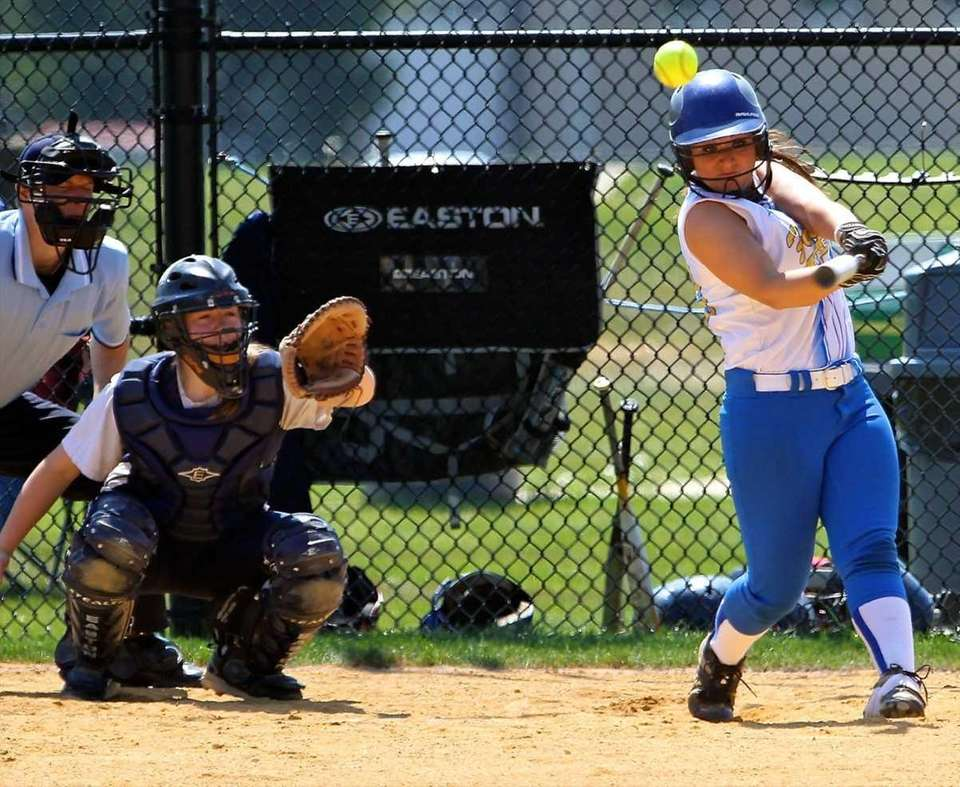 Kellenberg's Alexandra Pisiciotta #20 connects for a hit