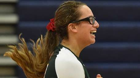 Christina Franco of Lynbrook reacts as the Owls