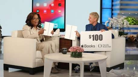 Oprah Winfrey promotes her partnership with Apple on
