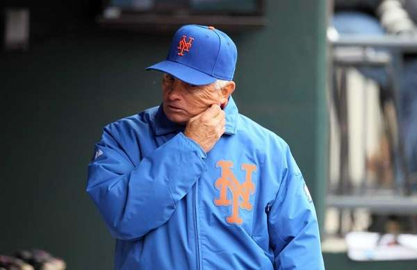 Terry Collins of the New York Mets walks