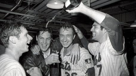 From left, the Mets' Bud Harrelson, Tom Seaver,