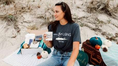 Merchandise from Discover Long Island includes mugs, T-shirts,