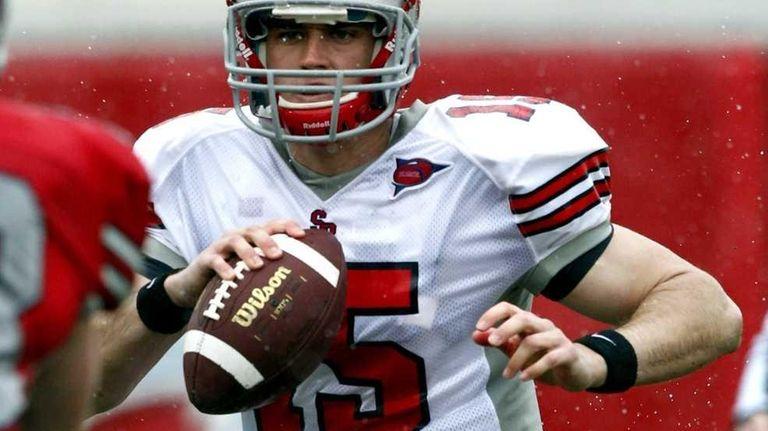 Stony Brook quarterback Kyle Essington (15) during the