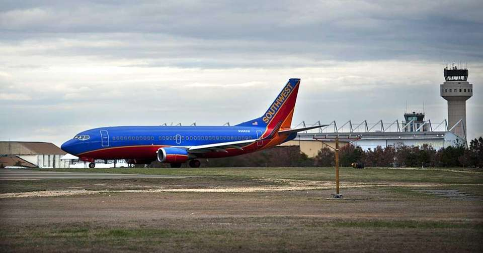 A Southwest Airlines Boeing 737 jet about to