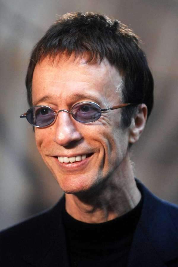 Bee Gees singer Robin Gibb in a file