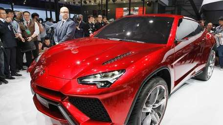 The Lamborghini Urus sport utility vehicle concept is