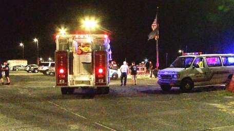 Rescuers search for a man who, an officer