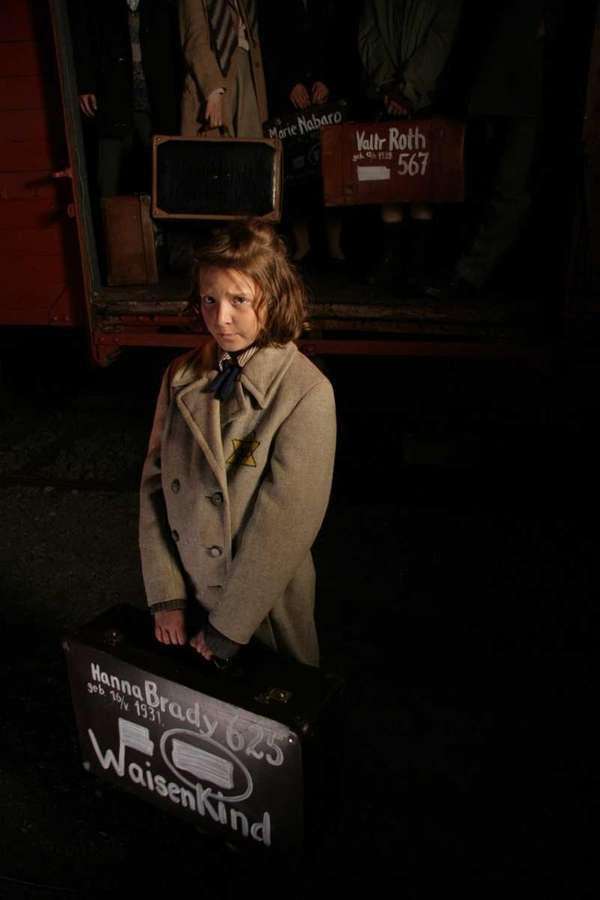 Hana Brady arriving at Auschwitz on October1944 a